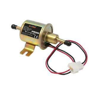 KATSU Electric Fuel Pump 12V Universal Low Pressure Inline Fuel Pump