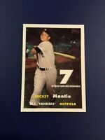 2007 Topps # MMR-57 MICKEY MANTLE Game Used Memorabilia 1957 Worn Authentic RARE