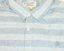 NEW Original Penguin by Munsingwear Classic Fit Button-down Dress Shirt XXL Gray