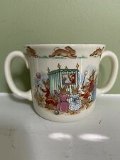 Bunnykins Royal Doulton England Two-handled Child's Cup w/ Puppet show