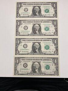 $1,1988A&2006,4 Of Super Match Trinary # 55555584 UNC&GEM , Super Top Rare