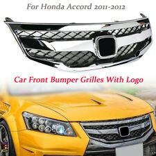 Chrome Front Bumper Sport Model Grille Grill For Honda Accord 2011-2012