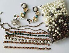 Jewelry making supplies new vintage look rhinestone links, shabby chic pendants