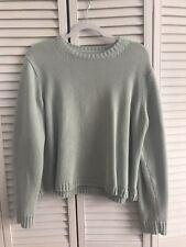 Eddie Bauer Mint Green Pullover Knit Sweater XL 100% Cotton