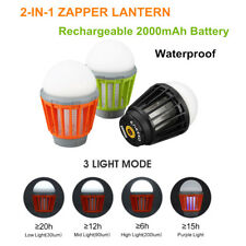 Portable USB Rechargeable LED Camping Lantern Bug Mosquito Zapper Killer Light