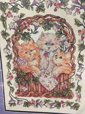 Vintage Three Little Kittens Nursery Rhyme DIGITAL Counted Cross-Stitch Pattern