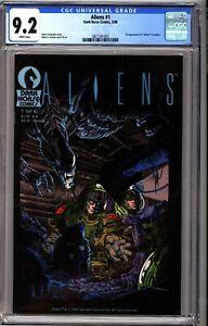 Aliens 1 CGC 9.2 White Dark Horse 1988 1st Aliens in Comics #002