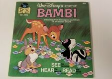 Vintage Walt Disney Story Of Bambi Read Along Book Missing RECORD 1977