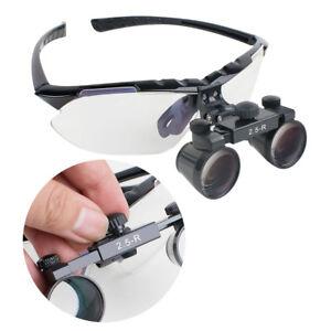 2.5X 360~580mm 45° adjustable black Dental SURGICAL binocular loupes dentist use