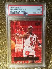 Michael Jordan 1995 NBA Ultra #3 Double Trouble Chicago Bulls PSA 9