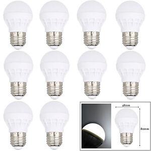 10 PCS E26 3W LED Bulb Globe Light Lamp Cool/Warm White Energy Saving For Home