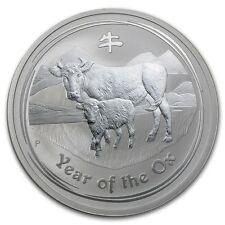 Perth Mint Australia 2009 $2 Lunar Series II Ox 2 oz .999 Silver Coin