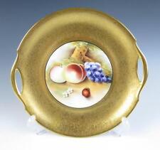 Vintage OSBORNE Gold Encrusted Cake Plate Platter Fruit PICKARD Porcelain Grapes