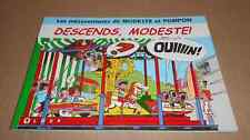 2000 Mésaventures MODESTE & POMPON Descend Modeste Format italien Attanasio