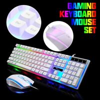 G21 Rainbow LED Gaming Keyboard Mouse Kit Multi-Colored Changing Backlight Mouse