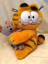 #118 1985 DAKIN GARFIELD TAGS WITH MOUSE VELCRO RARE!