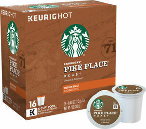 Starbucks Pike Place Blend Coffee Keurig K Cups 32, 64, 96 Pick Quantity Size