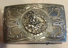 Eagle Western Belt Buckle Vintage 1940's-50's Silver Mexican National