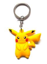 New Pikachu Pokemon Keyring Bagcharm Keychain Zip puller Rubber PVC Pokémon