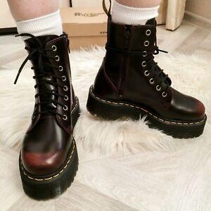 Dr. Martens Unisex 8-Eye Jadon Cherry Red Arcadia Platform Boots UK 9 - 9.5