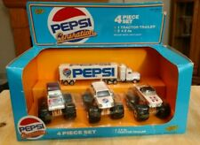 Road Champs Pepsi Generation 4x4 4 Piece Set Monster Truck Tractor Trailer Rare