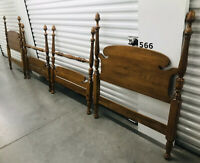 Ethan Allen Pair Twin Size Headboards Footboards Heirloom Collection RARE FIND!