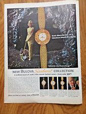 1963 Bulova Watches Ad  the Sunburst Collection