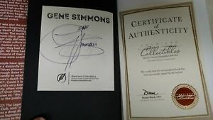 Gene Simmons 27 Autographed book signed with certificate of authenticity kiss