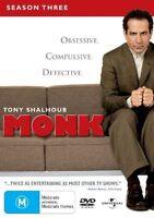 MONK The Complete Season 3 DVD (4 Disc Set) R4 (Aus Seller)