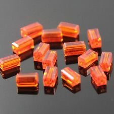 20pcs Swaro/vski  4x4x8mm Cuboid Crystal beads A Orange