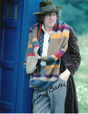 Dr Who en personne signé 10X8 - Tom Baker Outside the Tardis