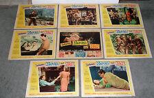 BETWEEN HEAVEN AND HELL orig lobby card set ROBERT WAGNER/TERRY MOORE/MARK DAMON