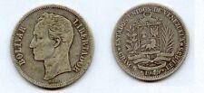Gertbrolen Vénézuela   1 Bolivar  Argent 1945    Silver Coin