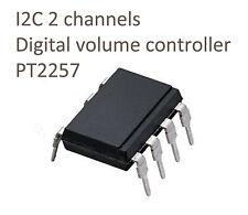 I2C 2 channels digital volume controller IC PT2257 arduino sound level control