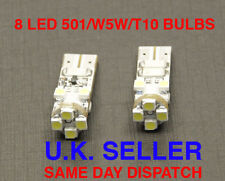 8 LED SIDE LIGHT BULBS CAN BUS FREE 501 T10 W5W WHITE