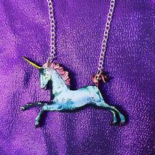 Unicorn mítica criatura Hecho a Mano Collar de encanto Kitsch GÓTICO ROCKABILIYY