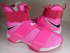 Nike Lebron Soldier 9 Pink Blast Black Kay Yow Breast Cancer SZ 9 (844374-606)