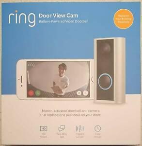 Ring Door View Cam - Smart Video Doorbell - Peephole style for middle of door