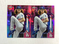 DUSTIN MAY LOT OF 2 2020 Topps Chrome PINK SP RC REFRACTORS #176! DODGERS!