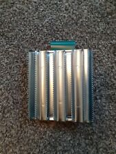 Lincoln Military Metal Curry Comb 8 Bars Green Strap Handle Horse Pony Brush
