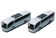 "Set of 2 x Kinsmart Coach Travel metro bus 7"" inch diecast model toy Plain White"
