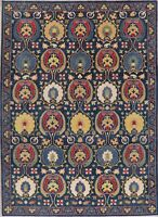 Art & Craft Super Kazak Oriental Area Rug Hand-Knotted Home Decor Carpet 9'x12'