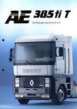Renault AE 385 ti T Sattelzugmaschine 6x4 Prospekt 1992 3/92 brochure tractor