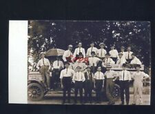 REAL PHOTO COCA COLA DELIVERY TRUCK WORKERS VINTAGE TRUCKS POSTCARD COPY COKE