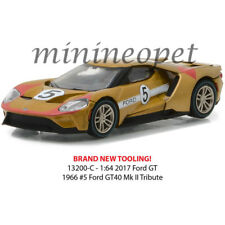 GREENLIGHT 13200 C HERITAGE RACING 2017 FORD GT 40 MK II TRIBUTE #5 1/64 GOLD