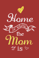 Home Is Where The Mom Is Red Art Print Poster 12x18 inch