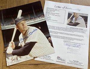 + Mickey Mantle Batting Signed Color Auto Autograph 8x10 Photo Plaque JSA