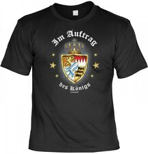 Witziges 3D T-Shirt Bayern - Im Auftrag des Königs - Bayerisches Funshirt Ludwig
