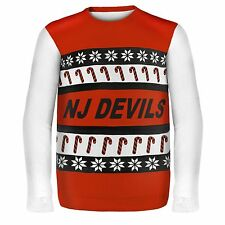 NEW JERSEY DEVILS ONE TOO MANY UGLY SWEATER 2XL