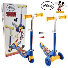 MICKEY MOUSE DISNEY SCOOTER KID TOY PUSH KICK ADJUSTABLE 2 & 3 WHEEL CAR RIDE ON